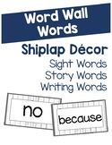 Shiplap Word Wall Words