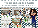 Shiplap and Burlap Classroom Decor Growing Bundle.