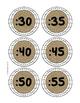 Shiplap and Burlap -Clock Minute Labels-