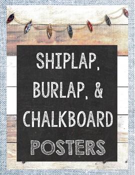 Shiplap and Burlap Posters