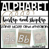 Shiplap and Burlap Print Alphabet Zaner Bloser and D'Nealian {Farmhouse Chic}
