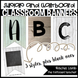 EDITABLE Shiplap and Chalkboard Classroom Banner Kit || fa
