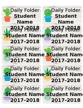 Shiplap and Cactus Cuties *Editable* Folder Labels