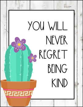 Shiplap and Cactus Kindness Posters! 3 Colors of Shiplap!