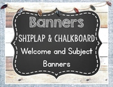 Shiplap and Chalkboard Banners