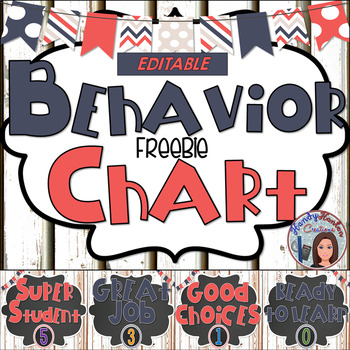 Shiplap and Chalkboard Behavior Chart Editable Freebie