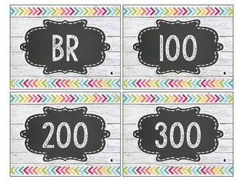 Shiplap and Chalkboard Brights Library Labels