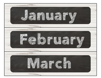 Shiplap and Chalkboard Calendar