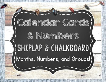 Shiplap and Chalkboard Calendar Months and Numbers