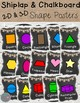 Shiplap and Chalkboard Color and Shape Posters