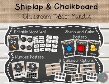 Shiplap and Chalkboard Decor Bundle