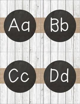 Shiplap and Chalkboard Editable Word Wall