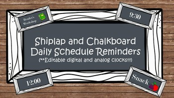 Shiplap and Chalkboard Labels for Daily Schedule Reminders