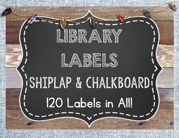 Shiplap and Chalkboard Library Labels