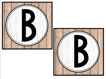 Shiplap and Chalkboard Square Banners **Editable**
