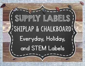 Shiplap and Chalkboard Supply Labels