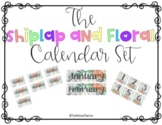 Shiplap and Floral Monthly Calendar Headings and Numbers