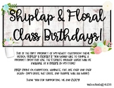 Shiplap & Floral- Student Birthdays Display