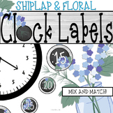 Shiplap and Floral Themed Clock Decor: For Your Rustic Themed Classroom