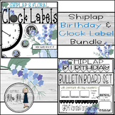 Shiplap and Floral Themed Mini Bundle: Clock Labels & Birthday Decor