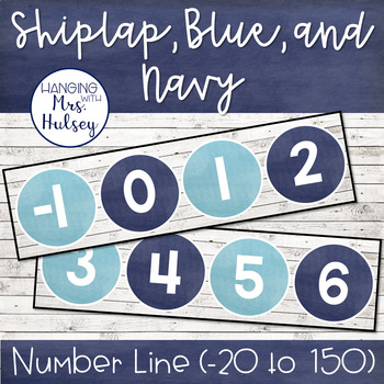 Shiplap and Navy Number Line