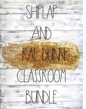 Shiplap and Rae Dunn Classroom Theme Bundle