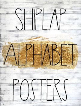 Shiplap and Rae Dunn Inspired Alphabet Posters