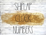 Shiplap and Rae Dunn Themed Clock Numbers