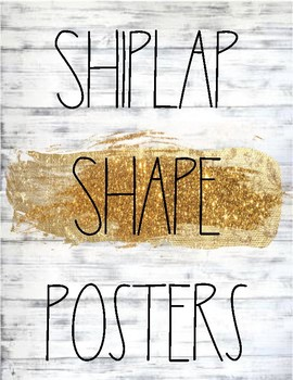 Shiplap and Rae Dunn Themed Shape Posters