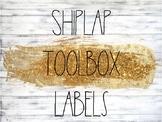 Shiplap and Rae Dunn Themed Toolbox