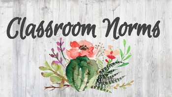 Shiplap and Succulent__Classroom Norms