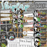 Shiplap and Succulents Class Decor Bundle (Behavior Chart, Name Plates, Labels)
