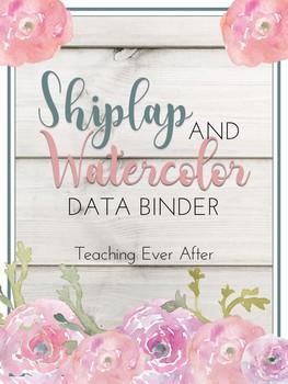 Shiplap and Watercolor Data Binder