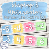 Shiplap and Watercolor Number Line