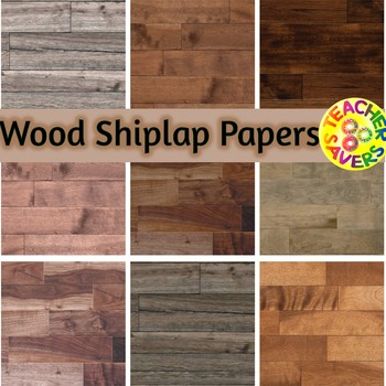 Shiplap and Wood Digital Papers