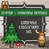 Shiplap and Woodland Animals - Classroom Decor