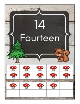 Shiplap and Woodland Animals - Number Posters 0-20