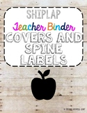 Shiplap binder covers and spine labels