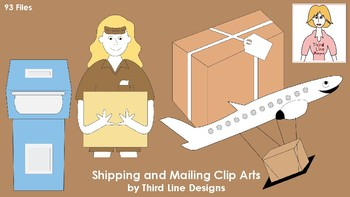 Shipping and Mailing Clip Arts