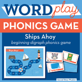 Ships Ahoy! Beginning Digraphs Phonics Game - Words Their