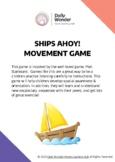 Ships Ahoy! Movement Game