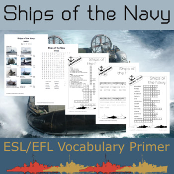 Ships of the Navy - ESL Vocabulary Builder - English+Chinese