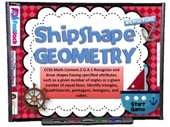 Shipshape Geometry Smart Board Game (CCSS.2.G.A.1)