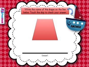 Shipshape Geometry Smart Board Game (CCSS 2 G A 1)
