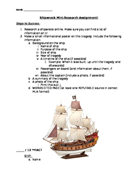 Shipwreck Research Project