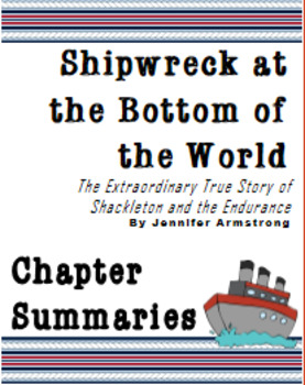 Shipwreck at the Bottom of the World: Chapter Summaries