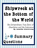 Shipwreck at the Bottom of the World: Questions