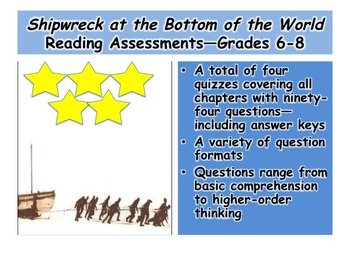 Shipwreck at the Bottom of the World Reading Assessments—G