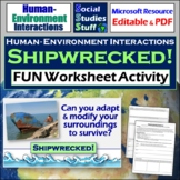 Shipwrecked! Adapt & Modify Activity | 5 Themes of Geography | Distance Learning