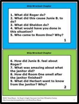 Shipwrecked Junie B. Jones #23 by Barbara Park Book Unit